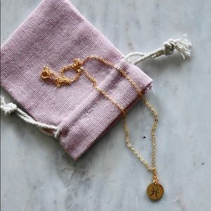 Pisces Gold Chain Necklace / Astrology